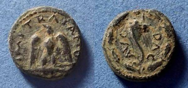 Ancient Coins - Roman Empire - Uncertain mint, Trajan 98-117, AE16