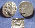 Ancient Coins - Rhodes, Democles - Magistrate Circa 200 BC, Drachm