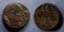 Ancient Coins - Spain, Sekaisa 100-50 BC, AE21