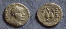 Ancient Coins - Bactria, Eukratides I 170-145 BC, Obol