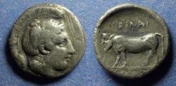 Ancient Coins - Campania, Hyria 405-400 BC, Nomos