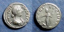 Ancient Coins - Roman Empire, Faustina Jr. 146-175, Denarius
