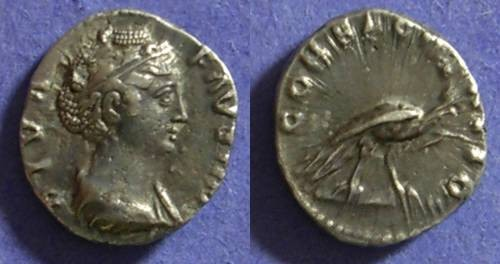 Ancient Coins - Faustina Sr. d.141 AD Denarius