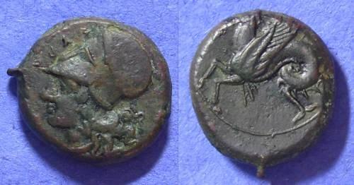 Ancient Coins - Syracuse Sicily: hemilitron 406-367 BC