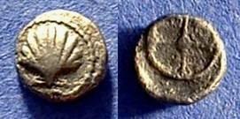 Ancient Coins - Taras Calabria Obol Circa 520-473 BC