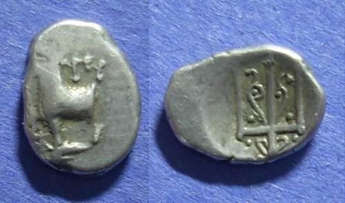 Ancient Coins - Byzantion, Thrace 387-340 BC, Hemidrachm