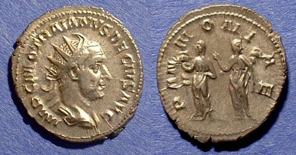 Ancient Coins - Trajan Decius 249-251 Antoninianus with Pannonia reverse