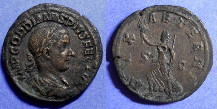 Ancient Coins - Gordian III - 238-244AD - Sestertius