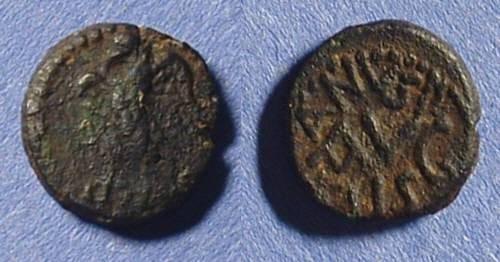 Ancient Coins - Berytus Phoenicia - AE14 circa 12-14AD Silanus Legate of Syria