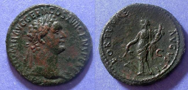 Ancient Coins - Roman Empire, Domitian 81-96 AD, Aes