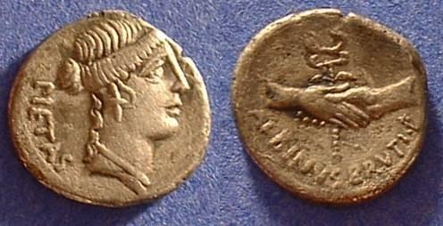 Ancient Coins - Republic Denarius - Postumia 10 - 48 BC
