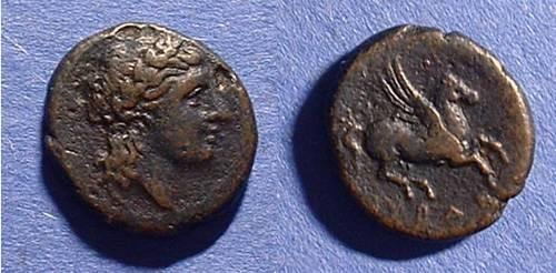 Ancient Coins - Syracuse Sicily AE-15 336-317 BC