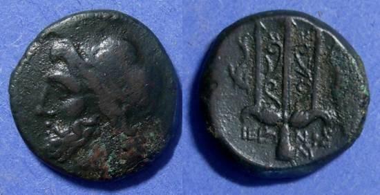 Ancient Coins - Syracuse Sicily, Hieron II 275-215 BC, AE20