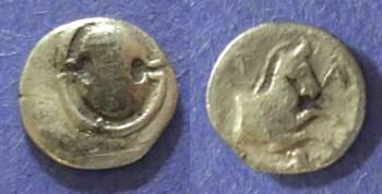 Ancient Coins - Boeotia, Tanagra Circa 375 BC, Obol
