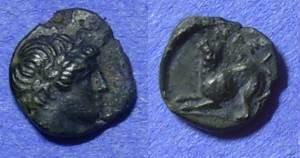 Ancient Coins - Nesos – Island off of Lesbos – AE9 – Circa 350BC