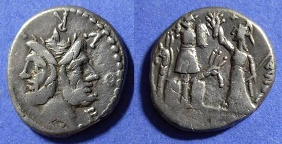 Ancient Coins - Roman Republic - Denarius - Furia 18 - 119BC