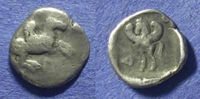 Ancient Coins - Leucas Akarnania – Diobol 450-420 BC