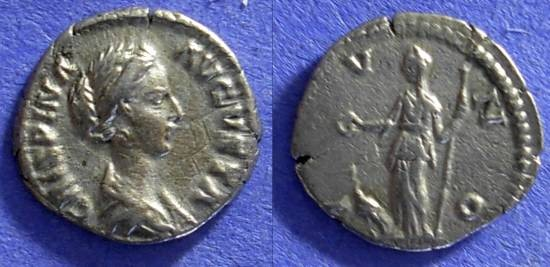 Ancient Coins - Roman Empire – Crispina (Wife of Commodus) d. 183  – Denarius