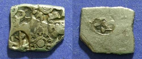 Ancient Coins - India - Mauryan Empire, Karshapana of Bindusara 297-272 BC,