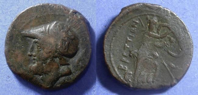 Ancient Coins - Bruttium, The Brettii 208-203 BC, AE25