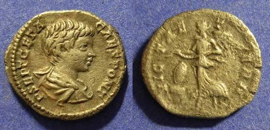 Ancient Coins - Geta (as Caesar) 198-208AD - Denarius