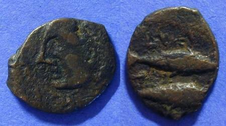 Ancient Coins - Gades Spain Circa 225BC - AE16