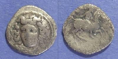 Ancient Coins - Larissa, Thessaly 344-337 BC, Trihemiobol