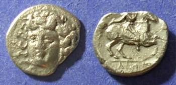 Ancient Coins - Larissa, Thessaly 375-344 BC, Obol