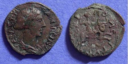 Ancient Coins - Faustina Jr - 161-175AD AE15 of Amphipolis Macedonia