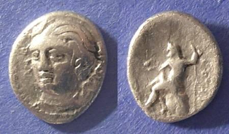 Ancient Coins - Skotussa, Thessaly Circa 225 BC, Hemidrachm