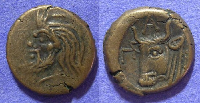 Ancient Coins - Pantikapaion Thrace - Circa 300 BC AE17