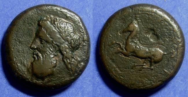 Ancient Coins - Syracuse Sicily Timoleon 344-336 BC Dilitron