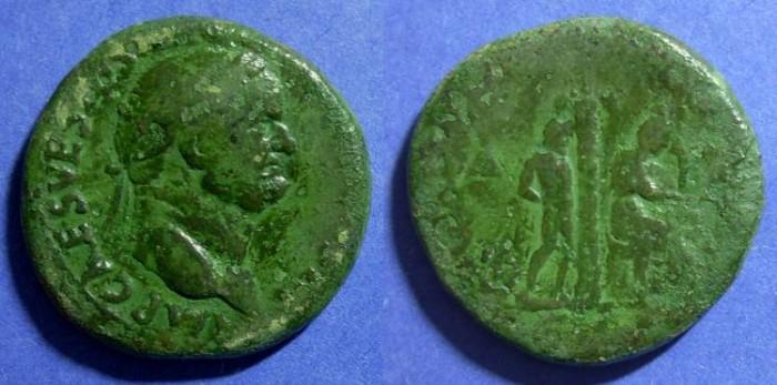 Ancient Coins - Roman Empire, Vespasian 69-79, Sestertius