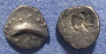 Ancient Coins - Thrace (?), imitative Circa 450-400 BC, Hemiobol