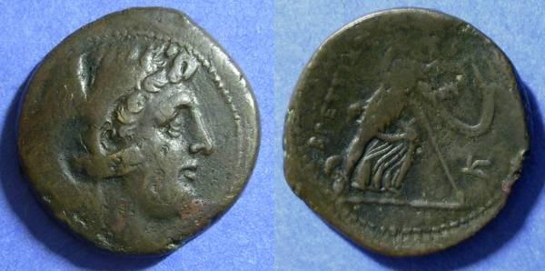 Ancient Coins - Bruttium, The Bretti 211-208 BC, AE25