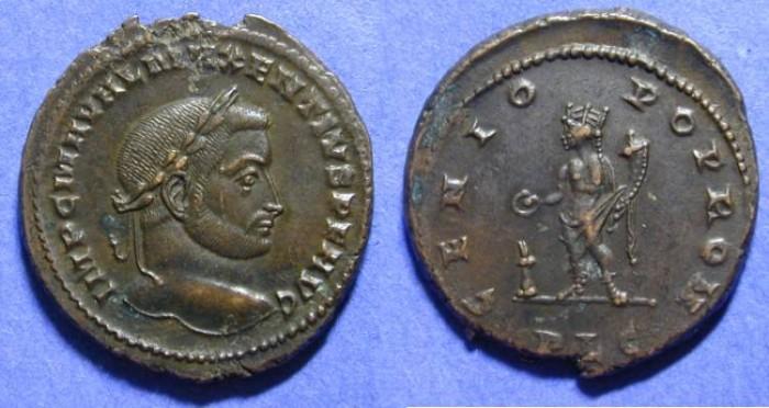 Ancient Coins - Maxentius 306-310 Follis - Lugdunum mint!