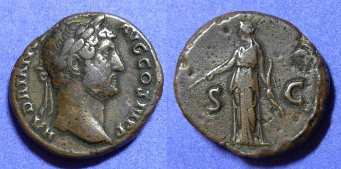 Ancient Coins - Roman Empire, Hadrian 117-138AD, Aes