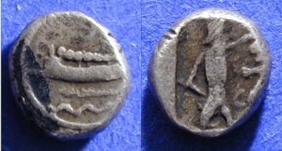 Ancient Coins - Sidon Pheonicia 1/8th Shekel 375-333BC