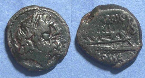 Ancient Coins - Roman Republic, M Fabrinius 132 BC, Semis