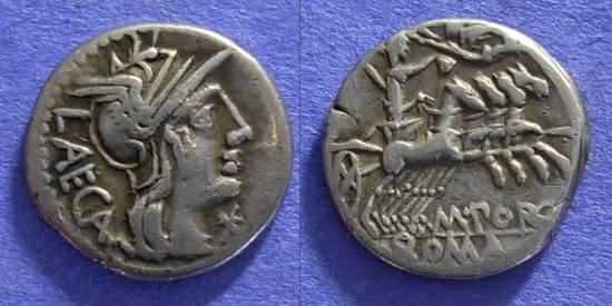 Ancient Coins - Roman Republic - M Porcius Laeca - Denarius - 125 BC