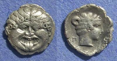 Ancient Coins - Macedonia, Neapolis 420-350 BC, Hemidrachm