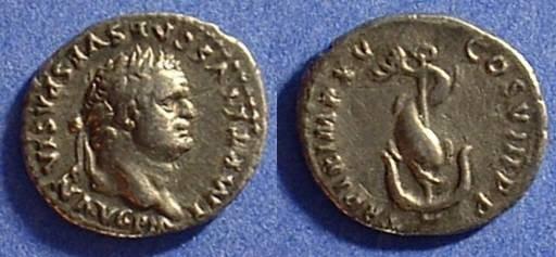 Ancient Coins - Titus (as Augustus) 79-81AD Denarius