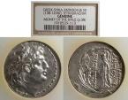 Ancient Coins - Seleucid Kingdom, Antiochos VII 138-129 BC, Tetradrachm - NCG Slab