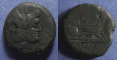 Ancient Coins - Roman Republic, Anonymous 194-190 BC, Aes