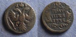 World Coins - Russia, Anna 1735, Polushka
