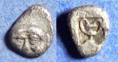 Ancient Coins - Thraco-Macedonian Region,  Circa 400 BC, Silver Hemiobol