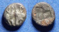 Ancient Coins - Lesbos, Uncertain mint 500-450 BC, Billon Diobol