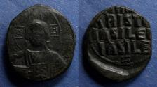 Ancient Coins - Byzantine Empire, Anonymous Class A3 (Basil II and Constantine VIII) 1022-1028, Follis