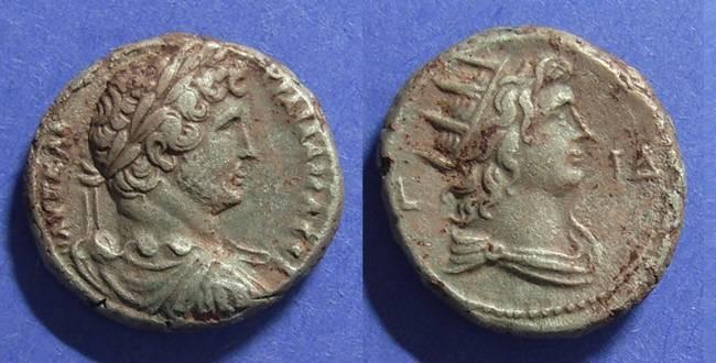 Ancient Coins - Roman Egypt, Hadrian 117-138, Tetradrachm