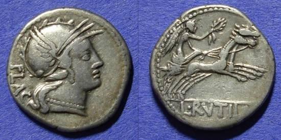 Ancient Coins - Roman Republic - Denarius 77BC - Rutilia 1